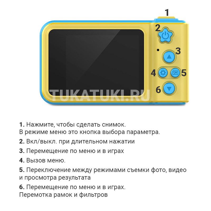 Детский цифровой мини фотоаппарат Photo Camera Kids Mini Digital, голубой