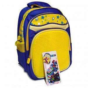 Пиксельный рюкзак, желто-синий