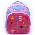Пиксельный рюкзак 41*30*18 см, розовый