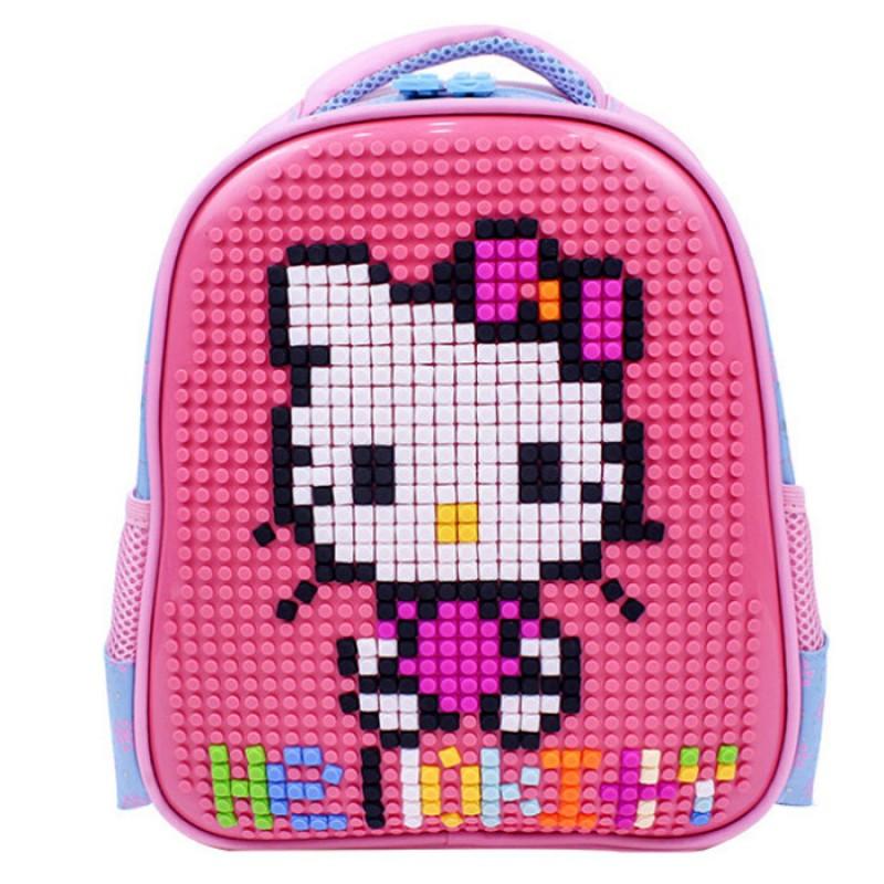 Пиксельный рюкзак 32*24*10 см, розовый