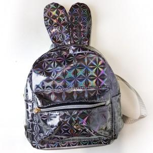 Рюкзак серый с ушками зайца