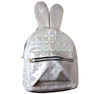Рюкзак белый с ушками зайца