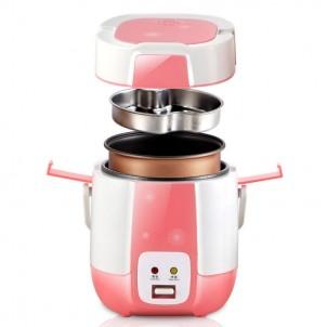 Мини мультиварка-рисоварка Wifer 1.2 литра, розовая