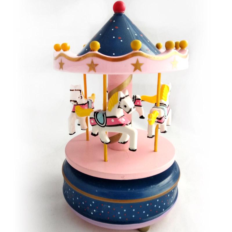 Музыкальная игрушка Карусель, синяя
