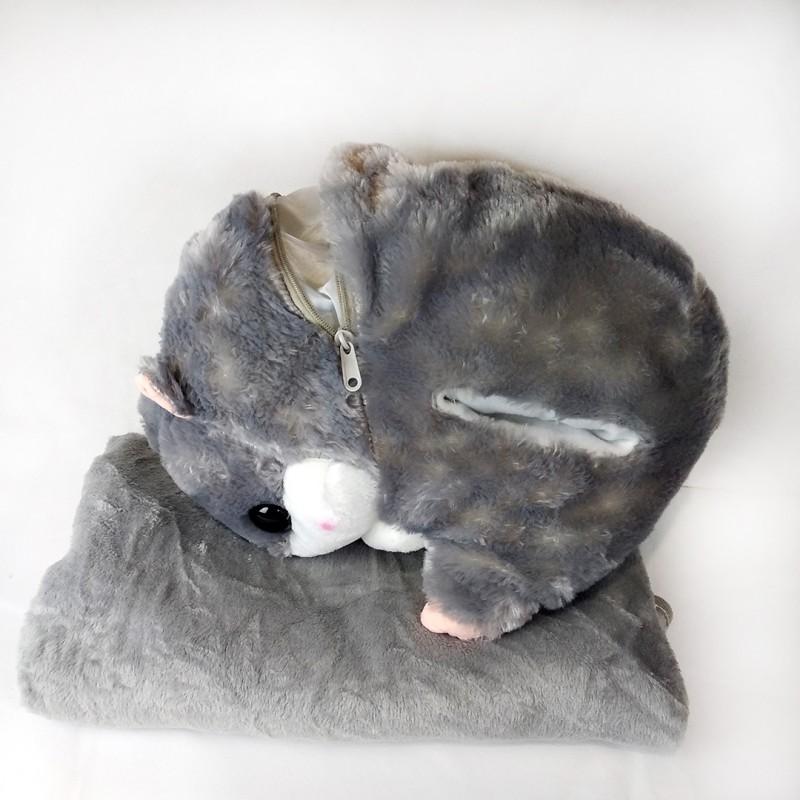 Игрушка-подушка Хомяк 3 в 1 с пледом внутри