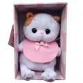 Мягкая игрушка Li-Li Baby Лили в розовом слюнявчике