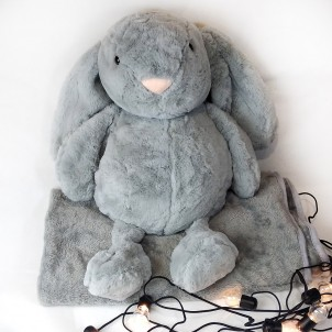 Игрушка-подушка Кролик с пледом внутри