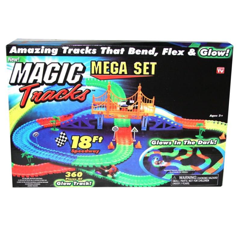 Светящаяся дорога Magic Tracks 360 деталей Мосты