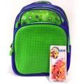 Пиксельный рюкзак зеленый