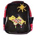 Пиксельный рюкзак 32*24*10 см, черный