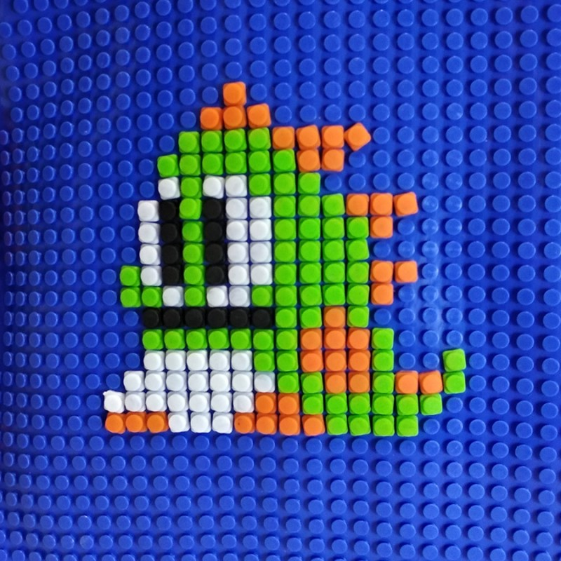Пиксельный рюкзак 32*24*10 см, синий