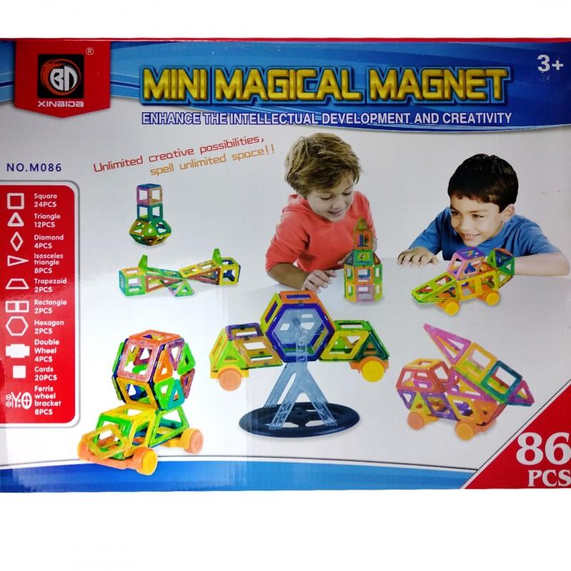 Конструктор магнитный «Мини магический магнит», 86 деталей
