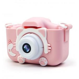 Детский цифровой фотоаппарат с играми и встроенной памятью Fun Camera Kitty, розовый