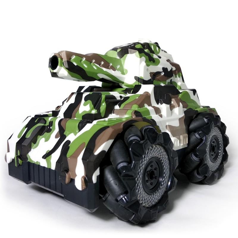 Стреляющий танк Phantom Storm хаки управление жестами + большой набор пулек