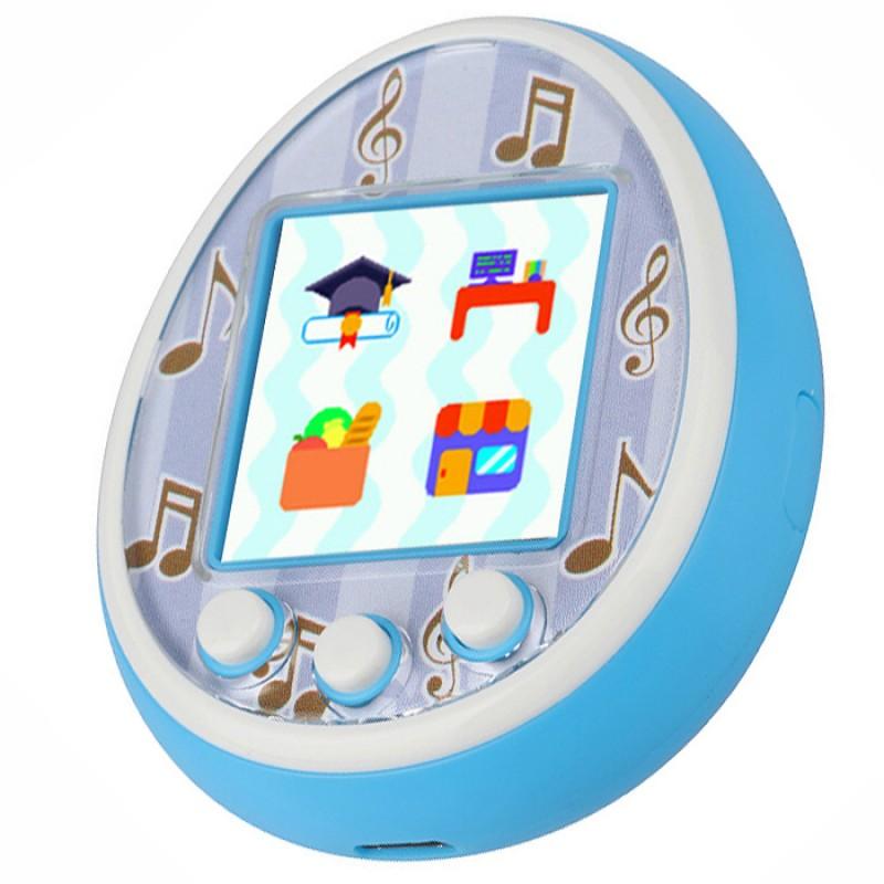 Виртуальный питомец Тамагочи Tamagotchi голубой с цветным дисплеем (USB зарядка)
