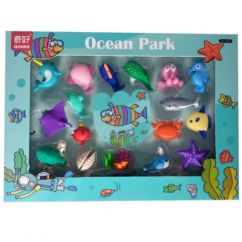 Набор ластиков Жители океана