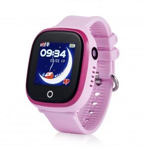 Водонепроницаемые детские часы GW400X Wonlex розовые + защитное стекло