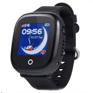 Водонепроницаемые детские часы GW400X Wonlex черные + защитное стекло
