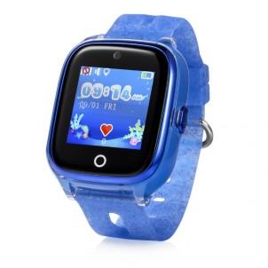 Водонепроницаемые детские умные GPS Часы Wonlex KT01 синие