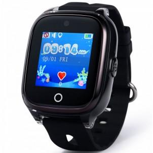 Водонепроницаемые детские умные GPS Часы Wonlex KT01 черные