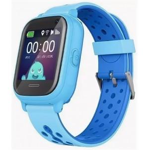 Водонепроницаемые детские умные GPS Часы Wonlex KT04 голубые
