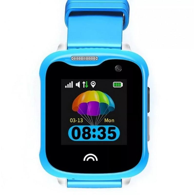 Водонепроницаемые детские умные GPS Часы Wonlex KT05 голубые