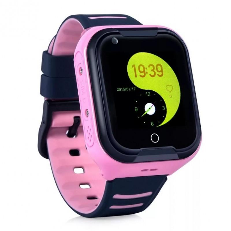 Влагозащищенные часы Wonlex KT 11 розовые с видеозвонком