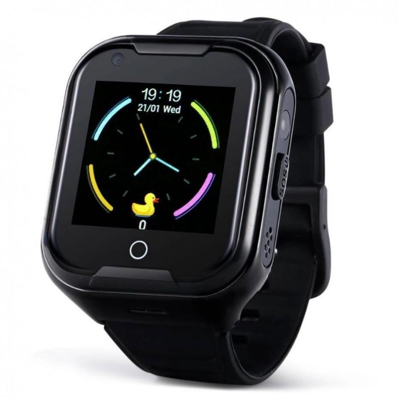 Влагозащищенные часы Wonlex KT 11 черные с видеозвонком + защитное стекло