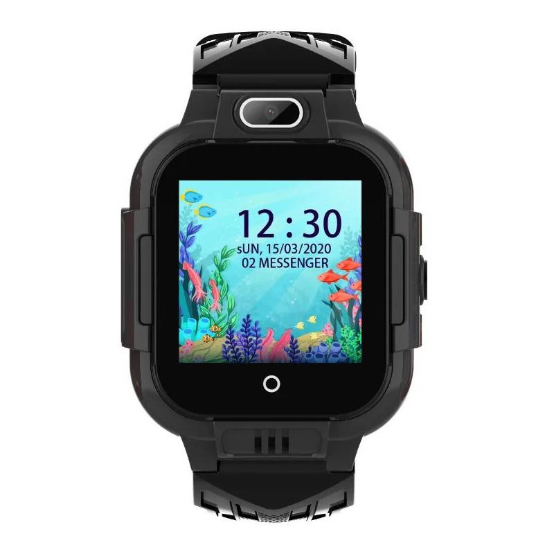 Влагозащищенные часы Wonlex KT 16 черные с видеозвонком