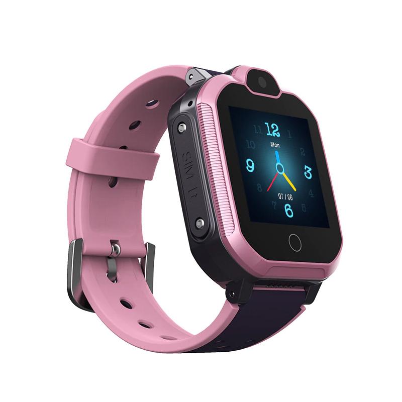 Влагозащищенные часы Wonlex KT 30 розовые с видеозвонком