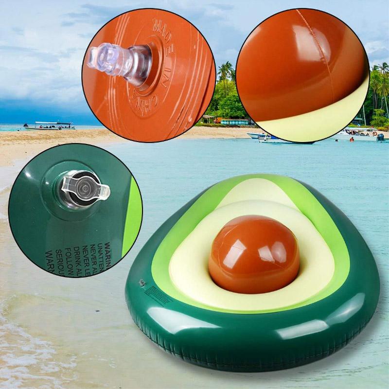 Надувной круг с пляжным мячом Авокадо